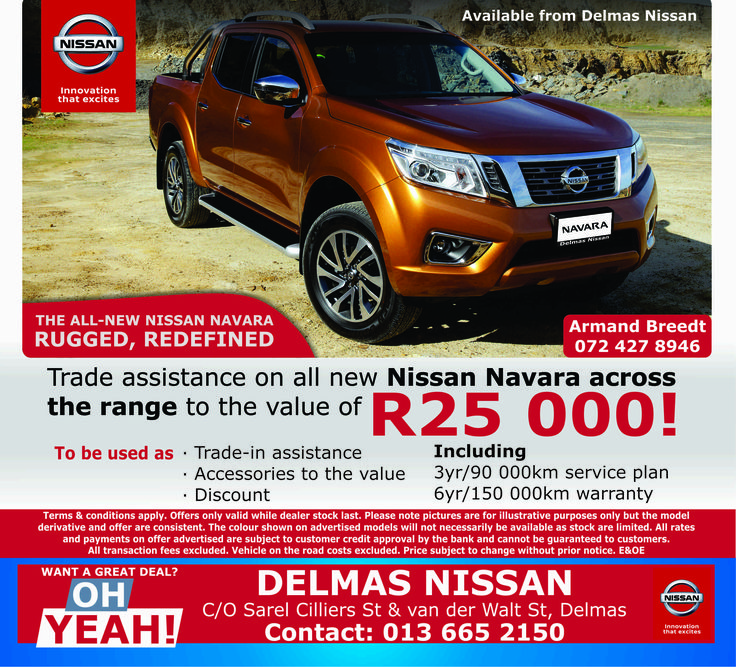 Want a great deal? Contact #Delmas #Nissan today on 0136652150 for more information. Don't miss out !!  #Nissan - Innovation that excites !! Armand Breedt: 0724278946 *Terms and Conditions Apply. #Autofind