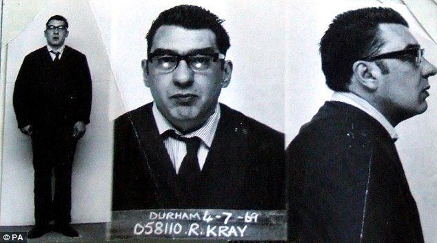 Not so scary now: Notorious villain Ronnie Kray as you've never seen him before. Daily Mail March 2010.
