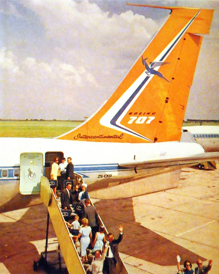 The old South African Airways, with the flying springbok on the tail.