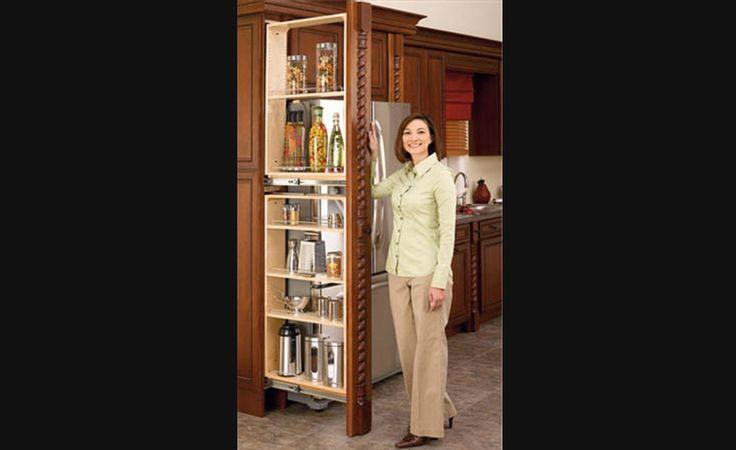 Garde manger troit coulissant rangement pour armoires - Panier de rangement pour armoire ...
