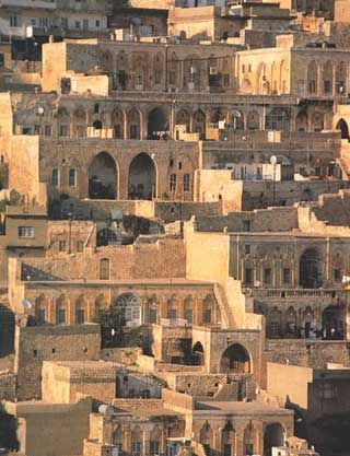 Mardin, Turkey.  Mardin is full of twelfth and thirteenth century examples of Turkish architecture in harmony with nature.