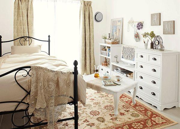 女性一人暮らしインテリア 可愛いお部屋のコーディネート例