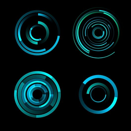Digital artwork for the film Tron Legacy, by Joshua T. Nimoy