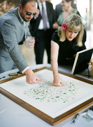 "wedding thumbprint ""tree"" guest book"