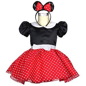 3rd birthday? mini mouse dress toddler | Baby Minnie Mouse Costume with Ears and Mini Skirt