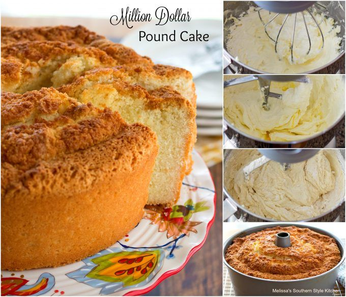 Million Dollar Pound Cake ***Very tasty cake with a good almond & vanilla flavor.  I'd make this one again and maybe add a glaze, browned butter or something simple.