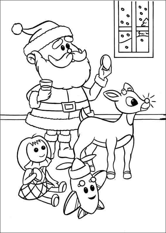 Rudolph mit der roten Nase Ausmalbilder 7 | Zeichnen ...