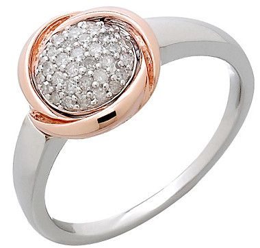 #ilovetoshop Get ready for a confidence boost when you wear this 10K two tone diamond pave set ring out of your house.