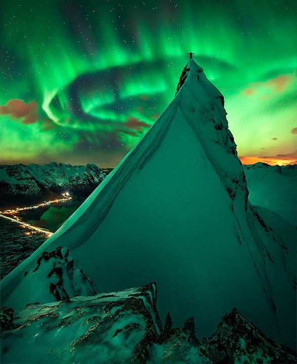 The Northern Matterhorn, Norway. I've always wanted to see the Northern Lights.