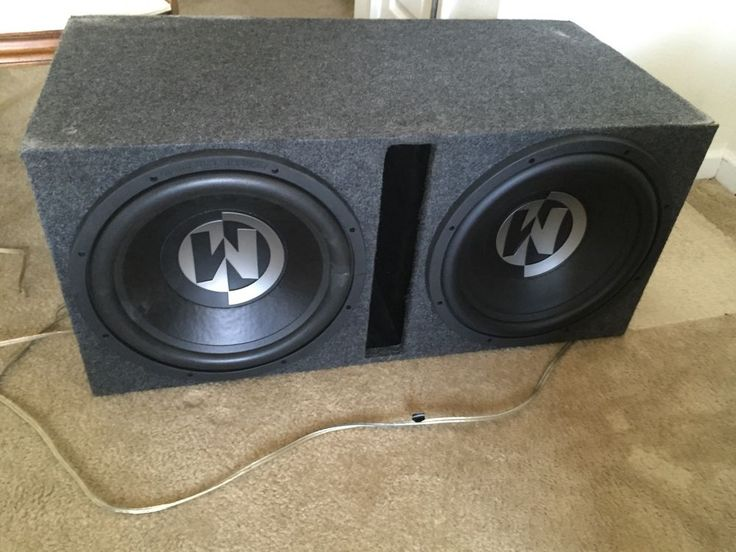 "Memphis Car Audio 2 15"" Subwoofer In Box With 600 Watt Amp"