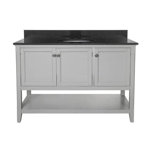 Foremost AUV4822 Auguste 48 Vanity Cabinet Only (Wood Finish), Silver pewter