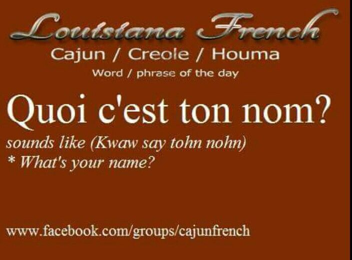 A Cajun French-English Glossary - Louisiana State University
