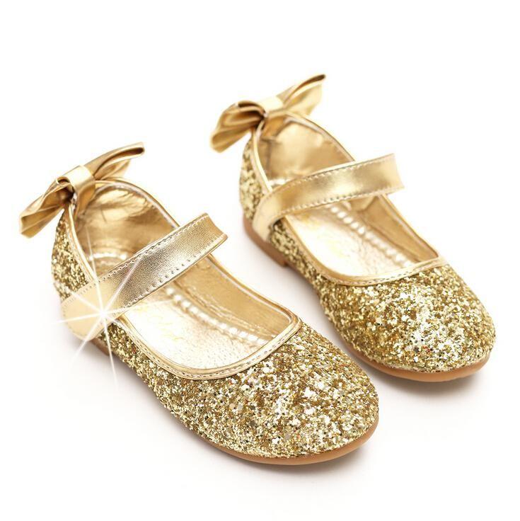 Girls wedding shoes, Girls gold dress shoes