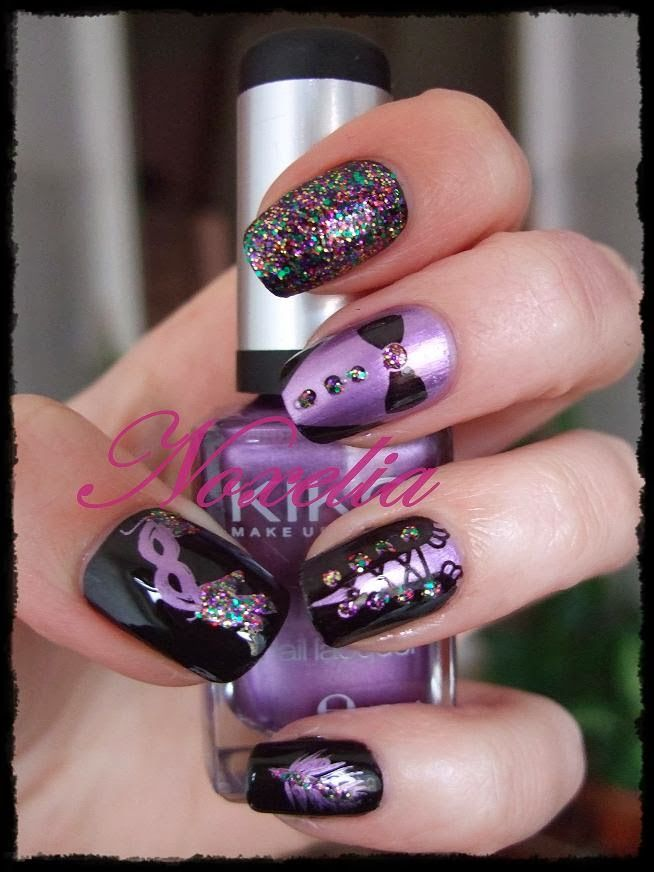 Noxelia: Look de uñas Nº 153. Carnaval