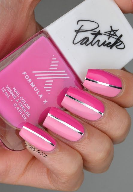 Divided by Pink with Formula X and Patrick Starrr #ManiMonday #systemaddict #contest