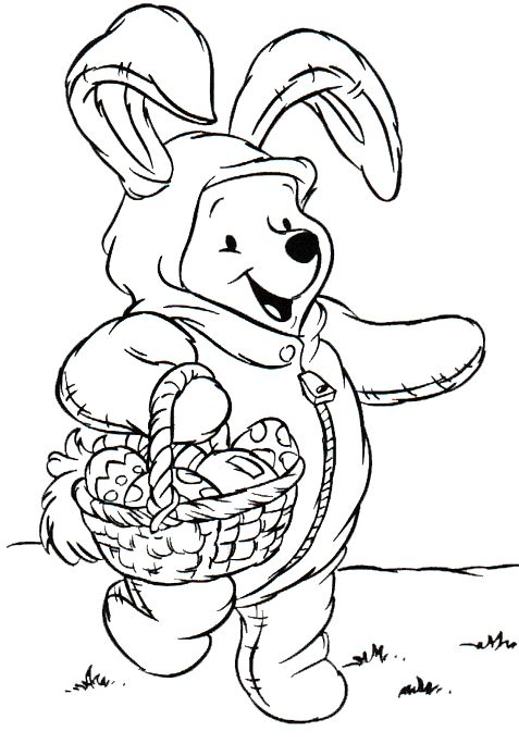 easter coloring pages disney winnie the pooh