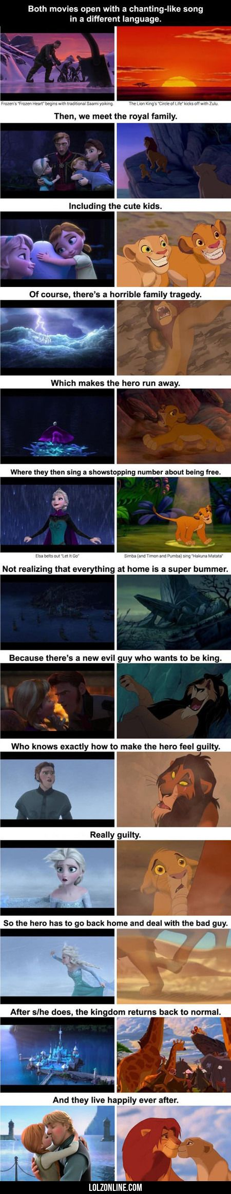 Both Movies Open With A Song#funny #lol #lolzonline