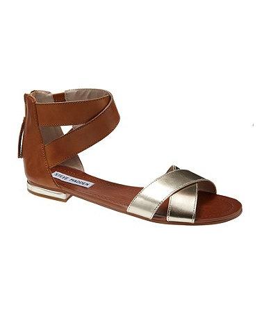 Available at Dillards.com #Dillards · Metallic SandalsDesigner  DressesDillardsDress ShoesSteve MaddenFlatsMens ...