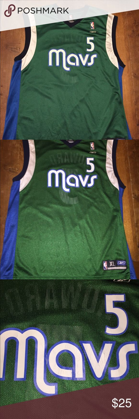 Dallas Mavericks throwback Fab Five nba jersey Good condition with some cracking on lettering see pictures Reebok Shirts Tank Tops