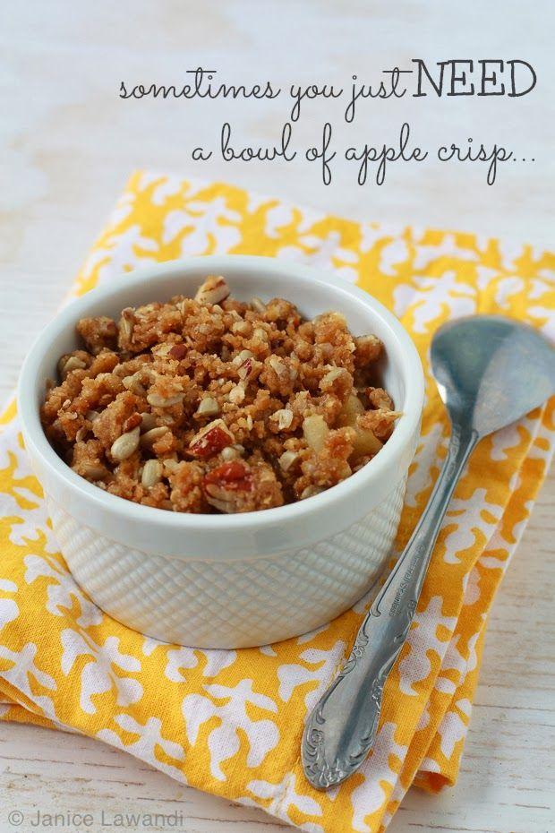 individual apple crisp | kitchen heals soul apple crisp for one :)