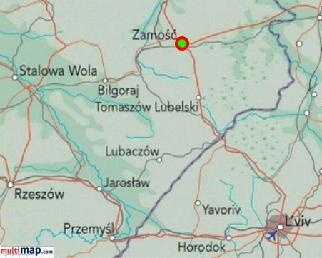 Zamosc is approximately 4 hours from Warsaw and has a centre for people with disabilities