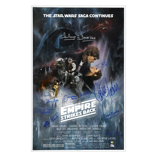 Star Wars Cast Autographed Star Wars Episode V: The Empire Strikes Back 27x40 Poster