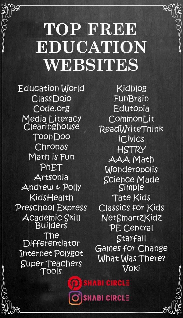 Top Education Websites Free Education Education Sites Education