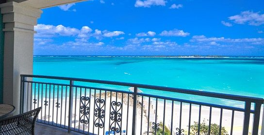 Sandals Royal Bahamian- The Balmoral Beachfront Club Level Room has the perfect view for a honeymoon!