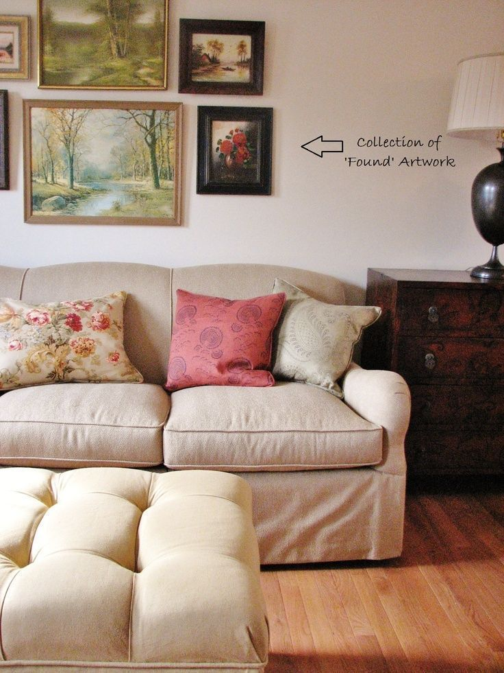 Paintings above couch – #abovecouch #couch #Painti…