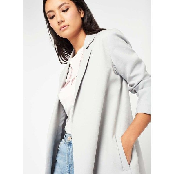 Miss Selfridge Grey Duster Coat (205 SAR) ❤ liked on Polyvore featuring outerwear, coats, grey, duster coat, miss selfridge, miss selfridge coats, grey duster coat and gray coats