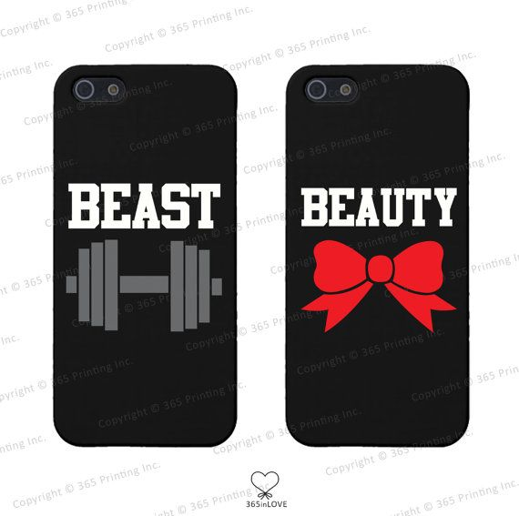 Beauty and Beast Couples Matching Phone Cases for iphone 4 5 5C Galaxy    Iphone Cases For Couples