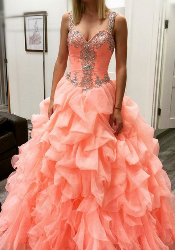 Cheap prom dresses , coral prom dresses,ball gowns