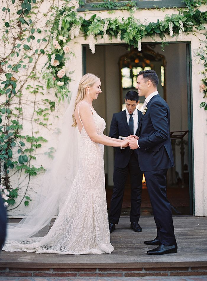 Elegant Villa Wedding Ceremony  https://heyweddinglady.com/bridal-glam-meets-organic-florals-italian-inspired-wedding/      #wedding #weddings #weddinginspiration #fineartphotography #realwedding #brides #glamwedding #glam #galialahav #filmphotography #weddingday