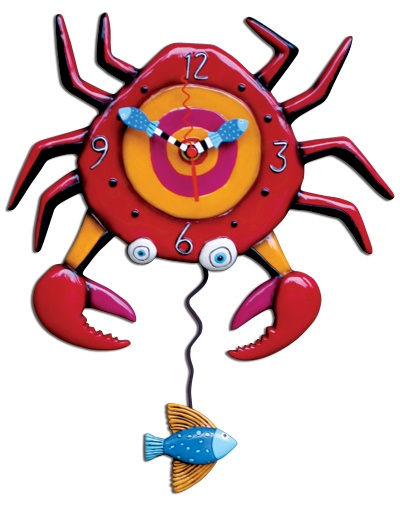 Michelle Allen - Crabby Clock  (This would look good to pop some colour into a dark wooden interior) $55