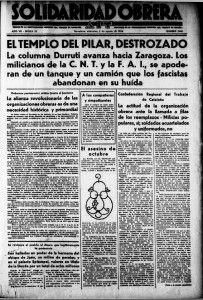 Bombardeo de la basílica del Pilar de Zaragoza en 1936