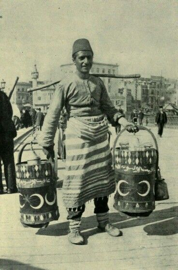 - Vendedor de zumo . Siglo XlX . Imperio Otomano ./tcc/
