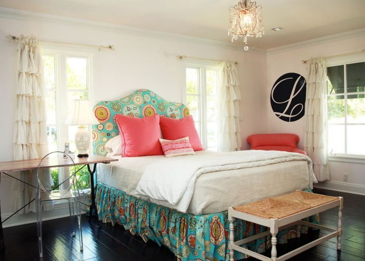 Eclectic Bedroom With Bedskirts And Ruffle Curtains : Creating Bedskirts For Your Bedroom