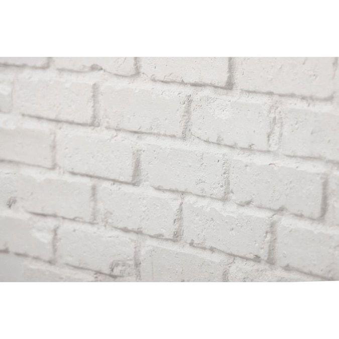 Antico Elements Faux Brick Panels White 47 5 In X 27 25 In Panel Brick Veneer Lowes Com Faux Brick Panels Brick Veneer Brick Wall Paneling