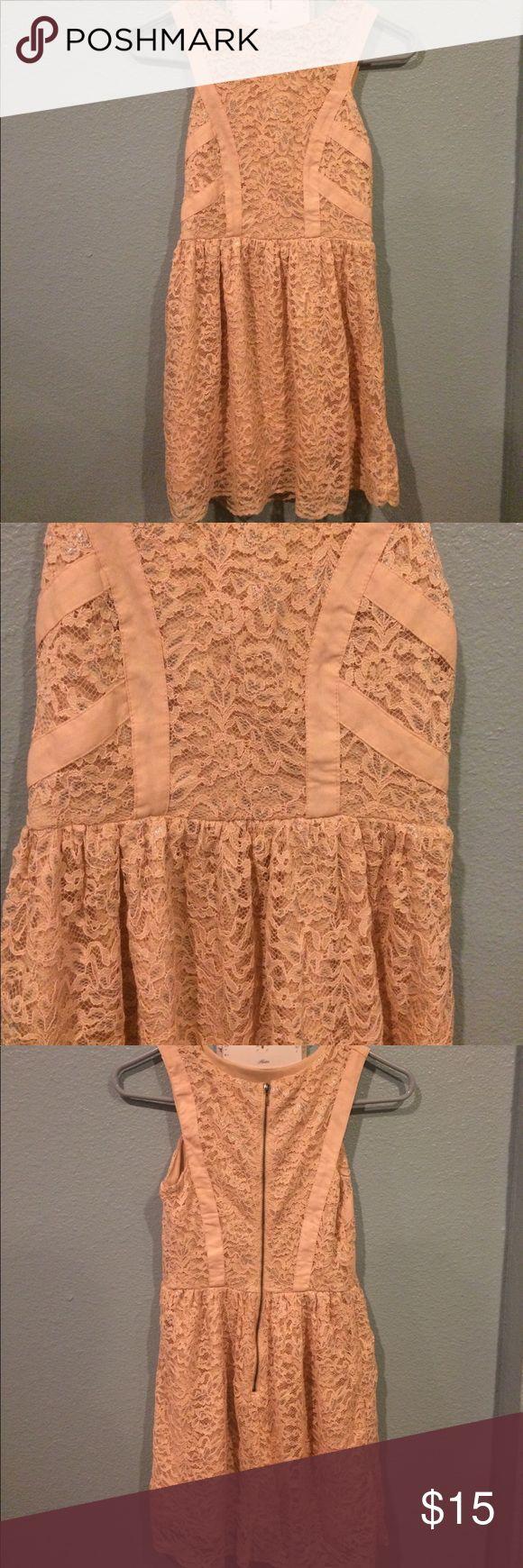 Blush pink lace dress Beautiful lace dress . Blush pink with silver accents . Xhilaration Dresses