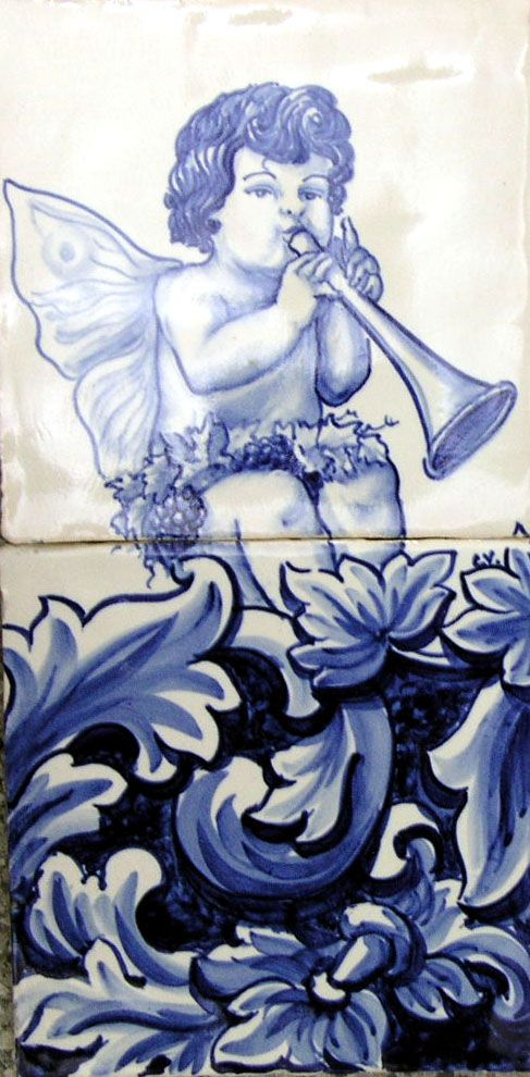 Azulejo Anjo Barroco