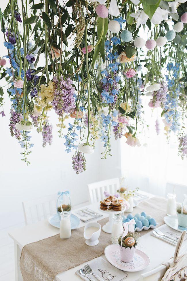 Pottery Barn Kids Easter Brunch | DIY Flower Installation | Little Peanut Magazine