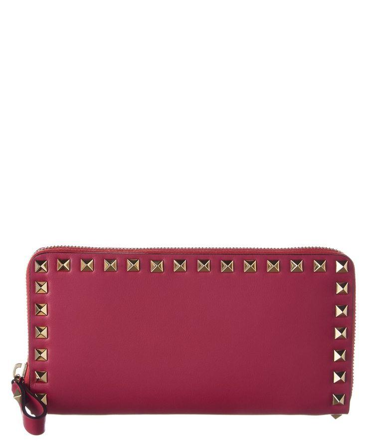 VALENTINO Valentino Rockstud Ziparound Leather Wallet'. #valentino #wallets