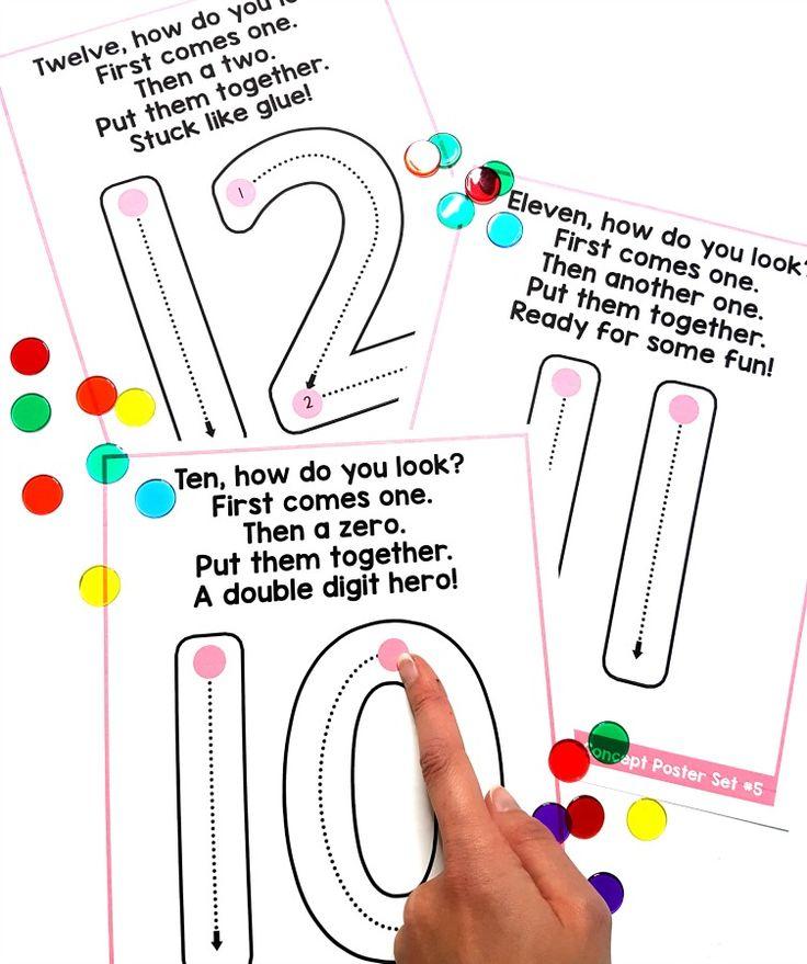 number formation poems for building number sense to 20