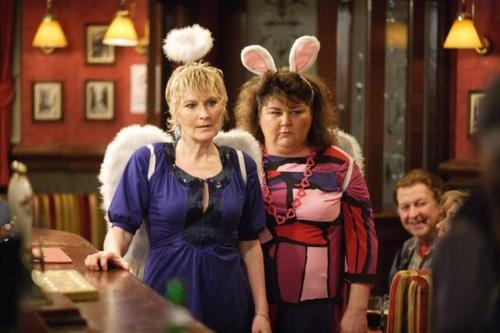 Shirley and Heather from EastEnders