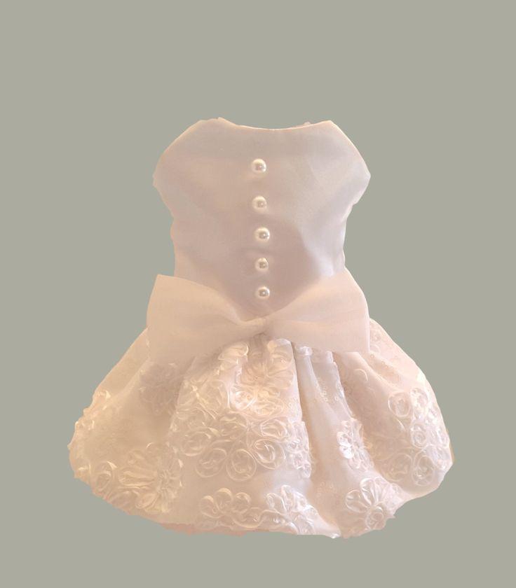 Dog Wedding Dress, White Satin with Bridal Lace by ChicDoggieBoutique on Etsy https://www.etsy.com/listing/199069102/dog-wedding-dress-white-satin-with