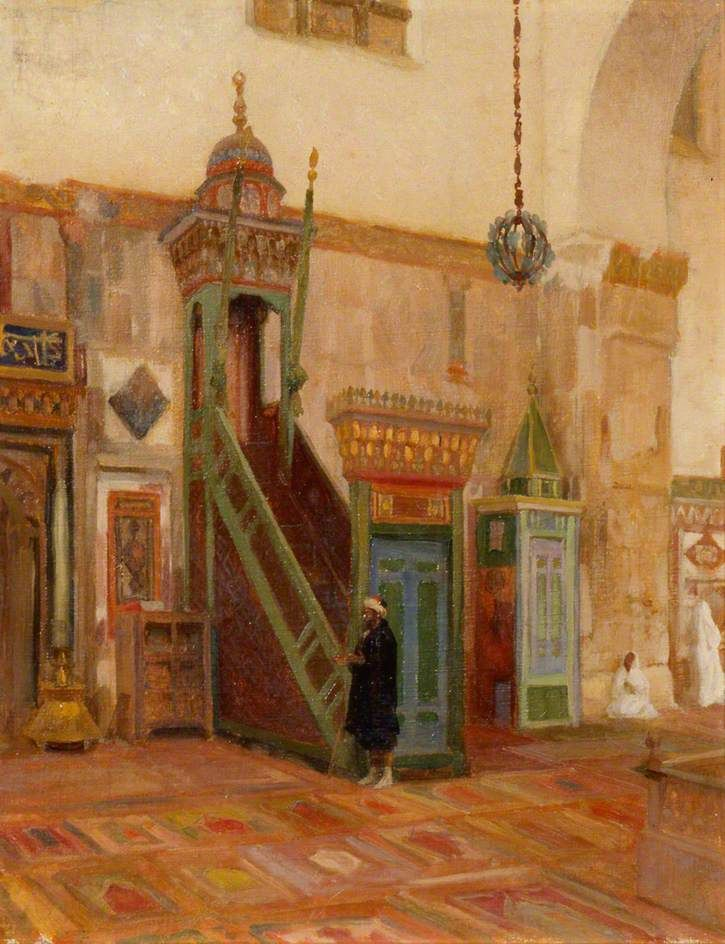 Interior of a Mosque or the Mimbar of the Great Mosque at