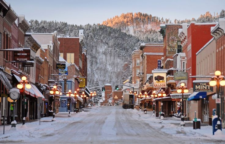 Deadwood, South Dakota.  This adorable historic gaming town is tucked into the Black Hills in a little gulley. You can to go Mt. Moriah Cemetery and see the graves of Calamity Jane and Wild Bill Hickock.
