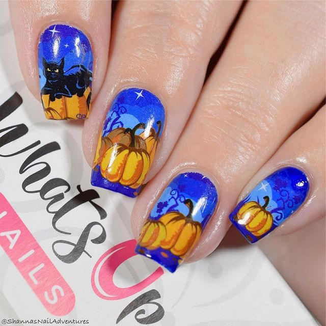 Gorgeous Halloween nails by @shannasnailadventures using ...