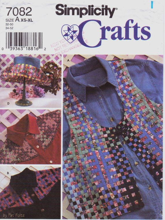 90s Simplicity Crafts Pattern 7082 Womens Woven by CloesCloset, $8.00