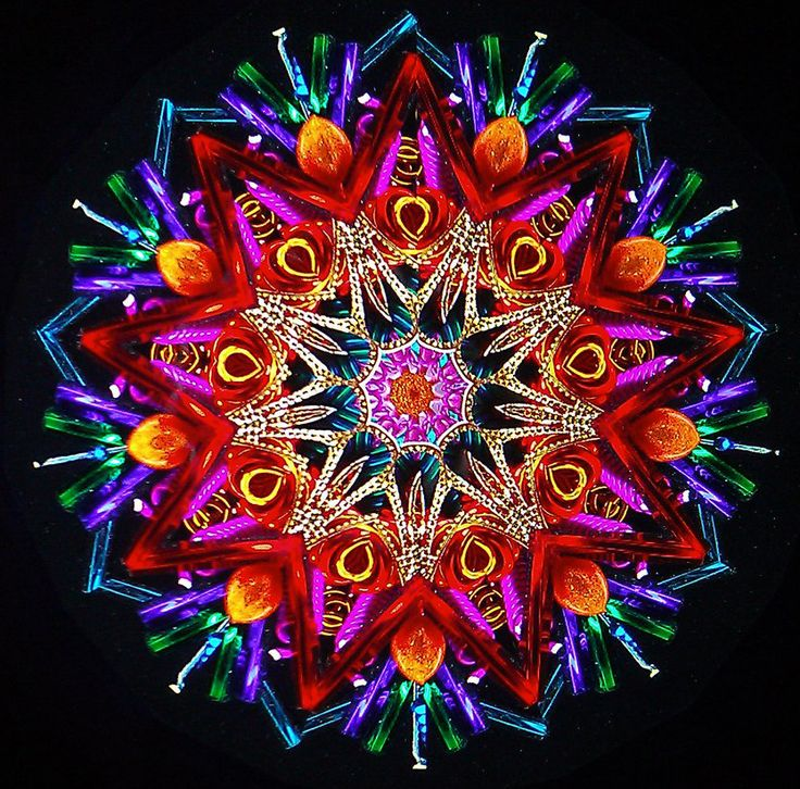 The Kaleidoscope. Looking at the geometry of circles and triangle that can be used for expanding the digital ripple effect concept. nice colours
